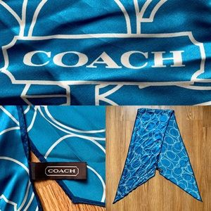 VINTAGE Coach Monogram Ascot/Scarf
